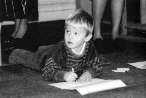 Drawing as a kid, Cork, Ireland 1985
