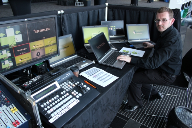 Working at Multi-Media, Auckland 2013