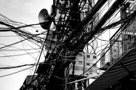 Power lines in Hanoi