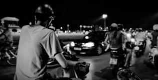 Driving around Ba Dinh Square, Hanoi