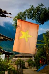 Vietnamise Flag, Sa Pa, Vietnam
