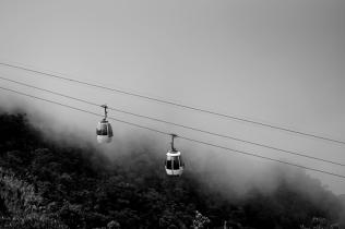 Cable car in Bà Nà Mountains